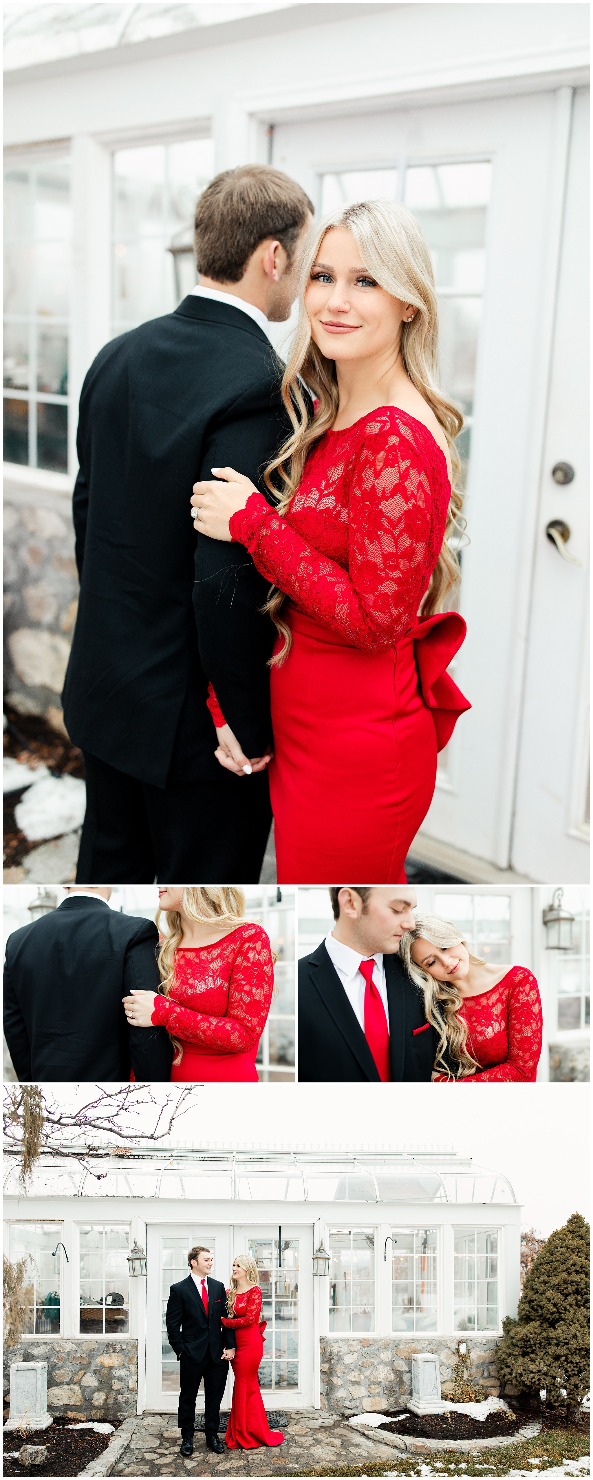 Red dress, Formal engagements, What to wear at an engagement session, Formal red dress, Utah engagement session, Wadley farms wedding