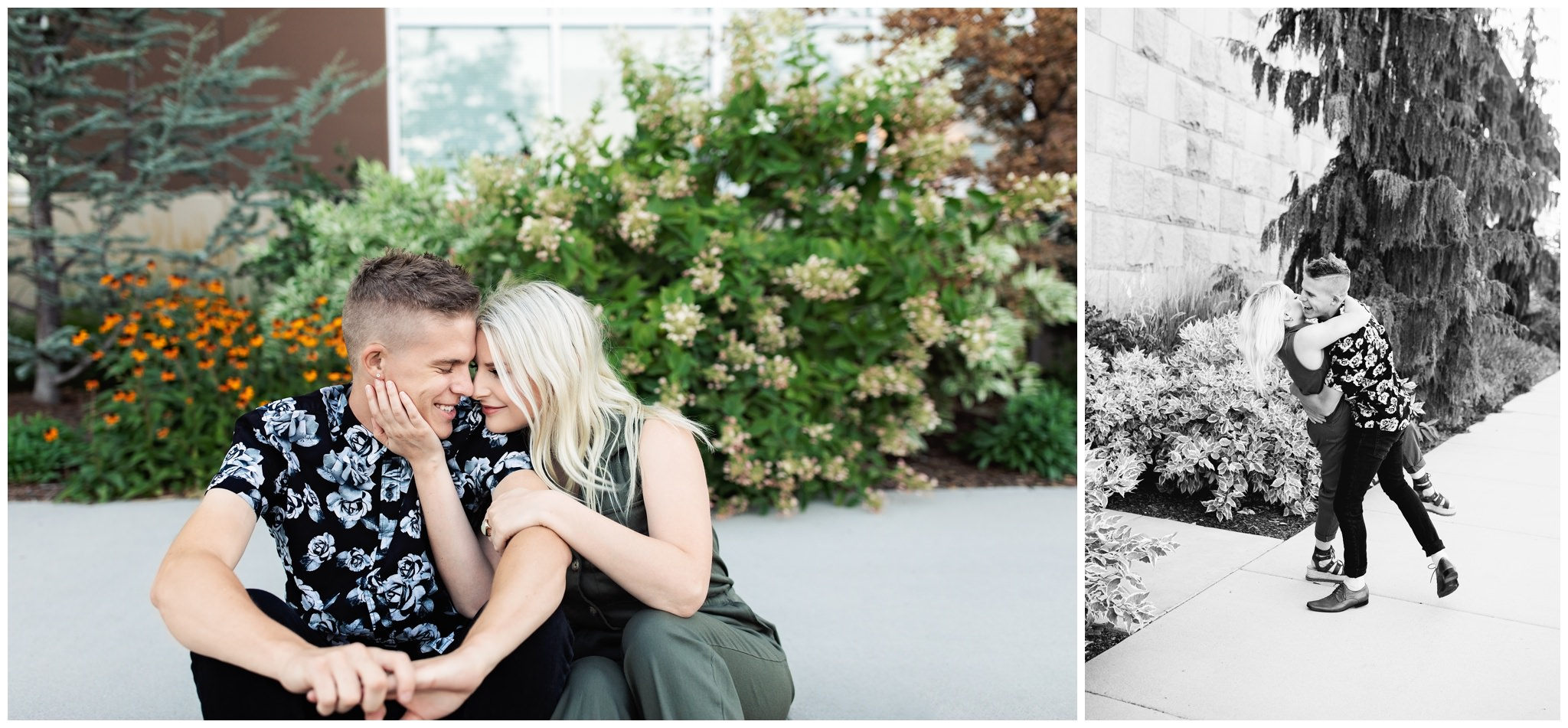Modern Engagement session in Meridian Idaho