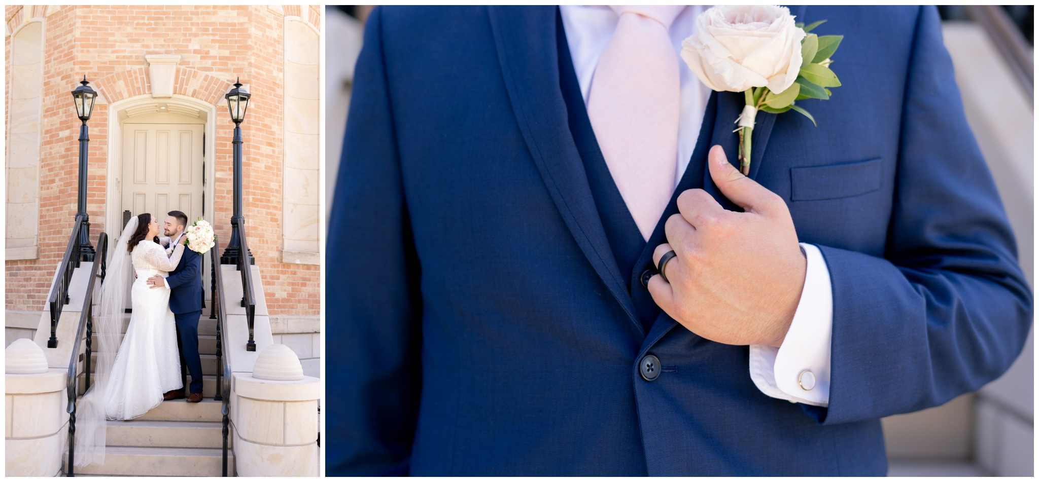 Groom detail pictures at the provo city center temple in provo utah