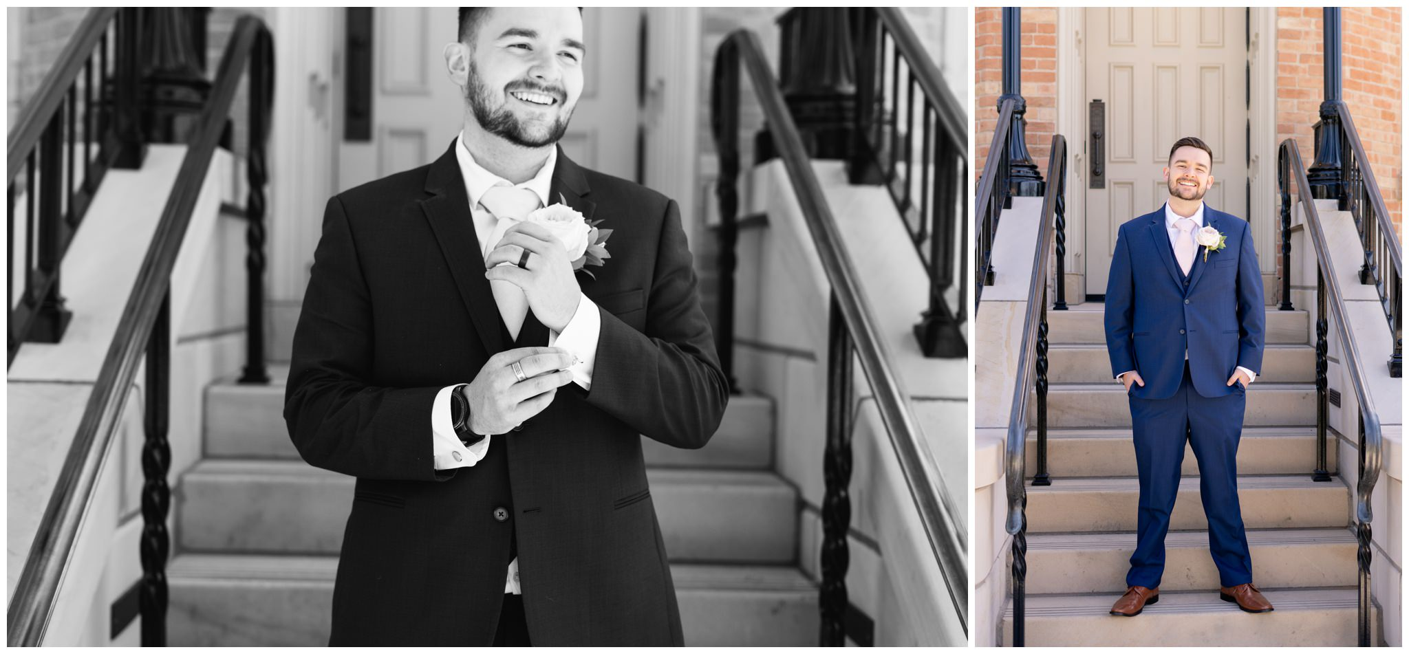 Groom Portraits at the provo temple in utah