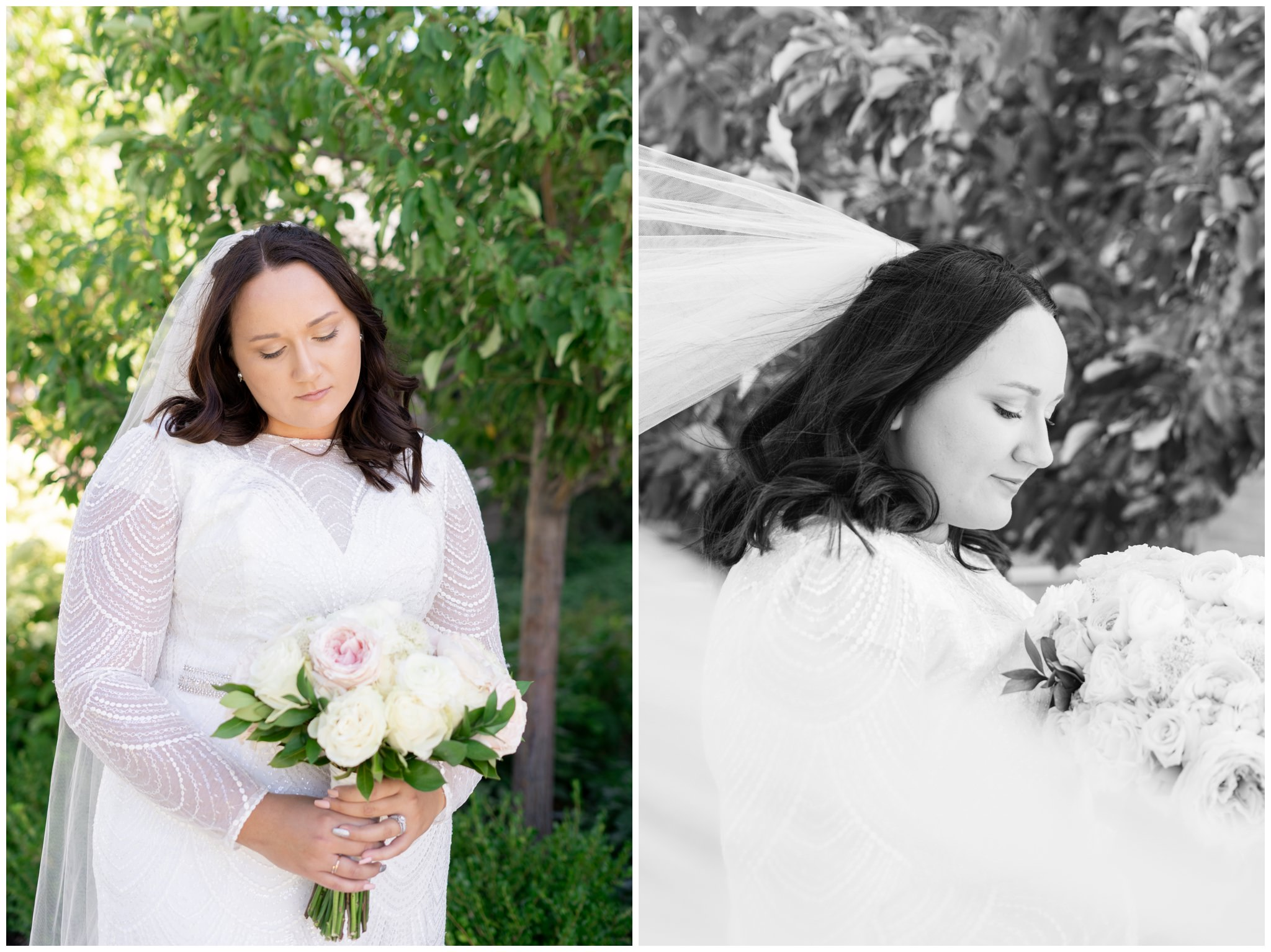 Bride pictures at the provo city center temple in provo utah