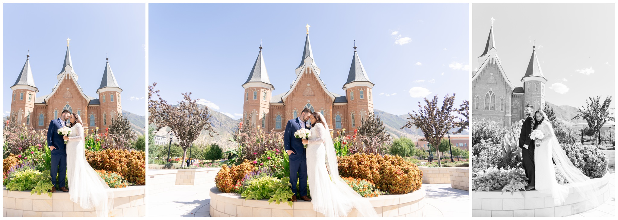 Bride and Groom at the Provo City Center Temple