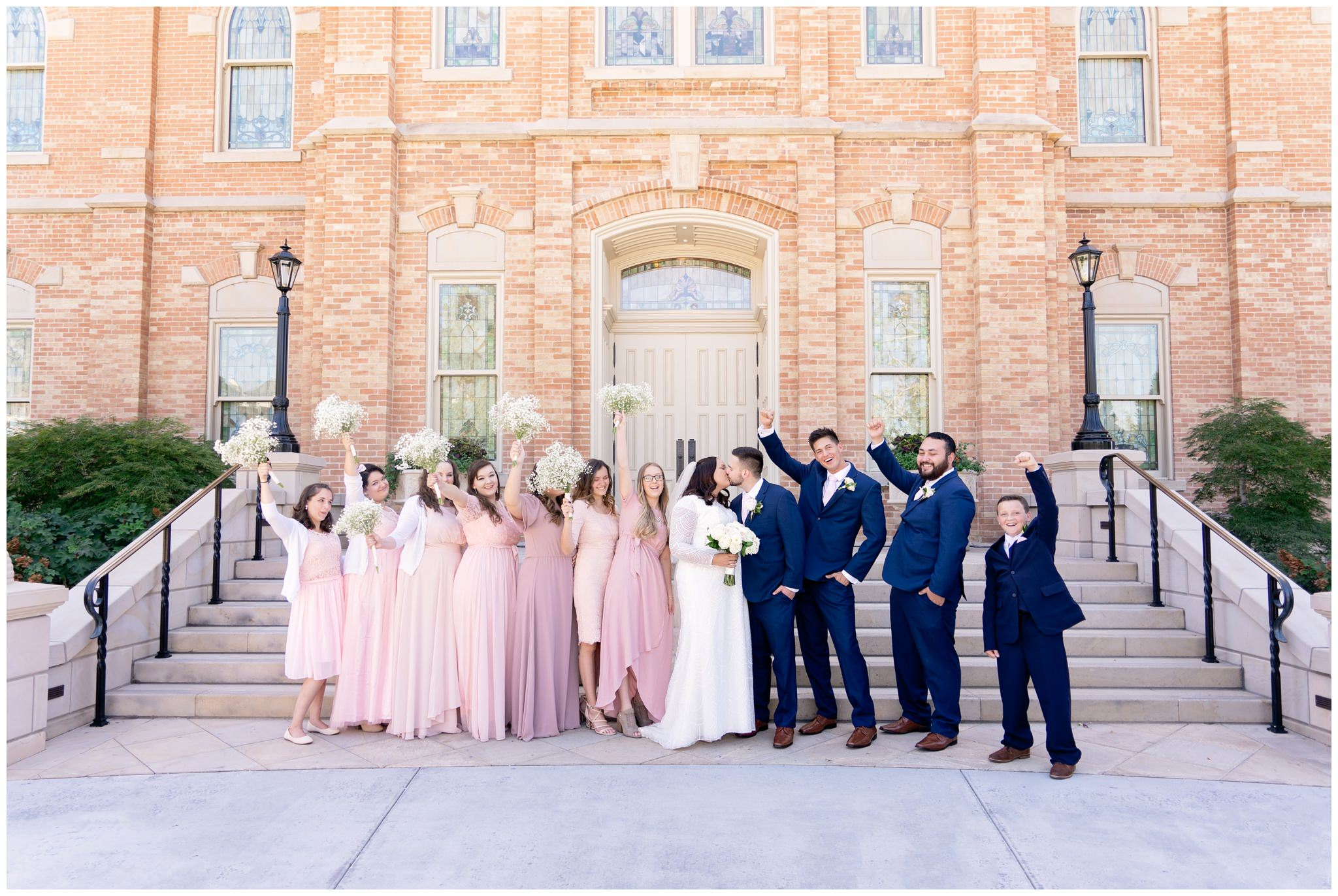 Wedding Party at the Provo City Center Temple