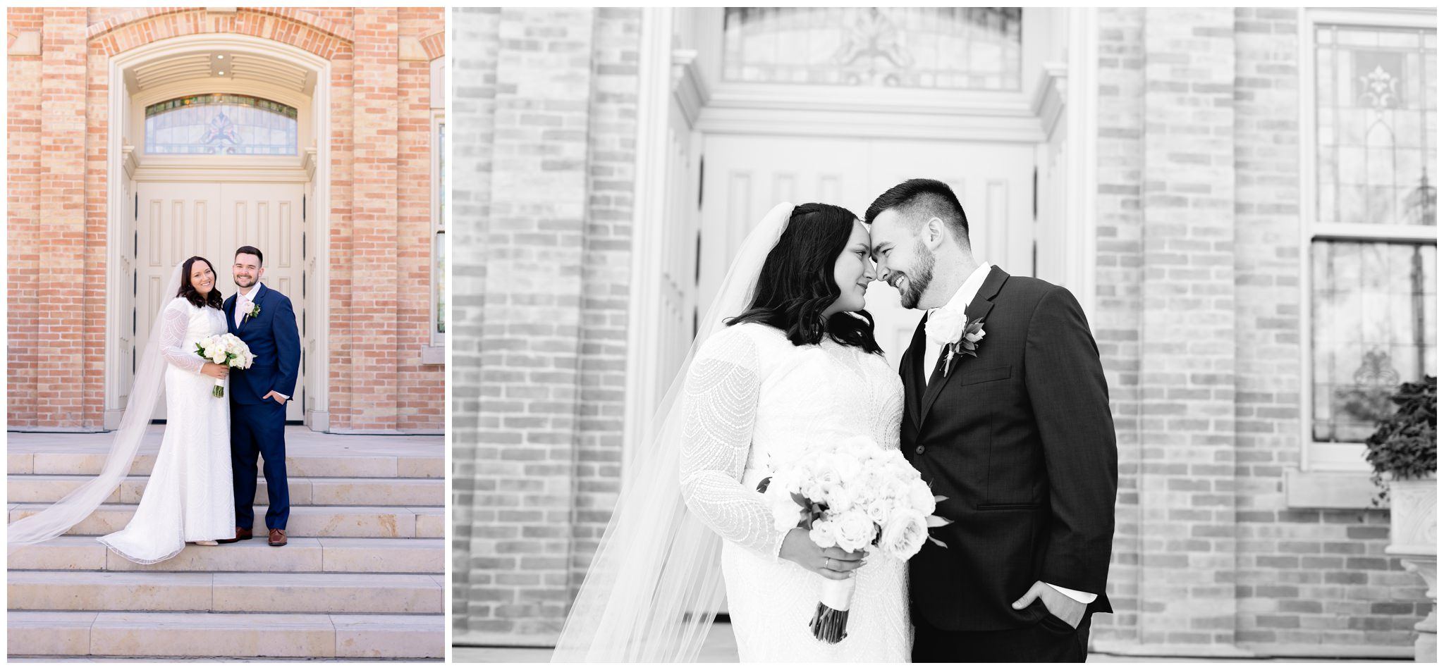 Utah Valley Bride and Groom at the Provo City Center Temple