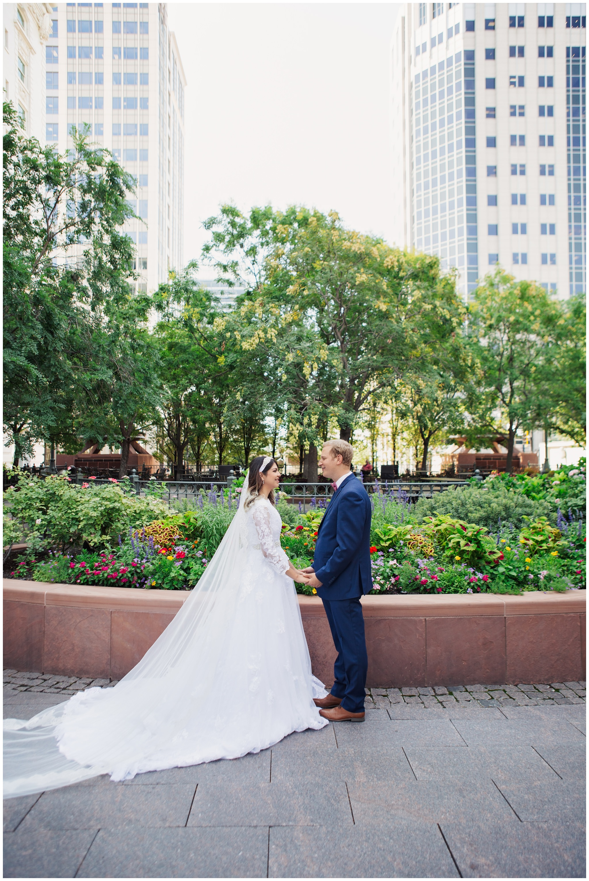 Downtown SLC wedding pictures