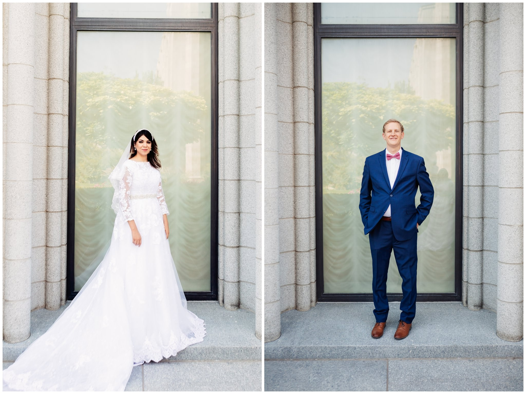SLC Temple Bride and Groom Portraits