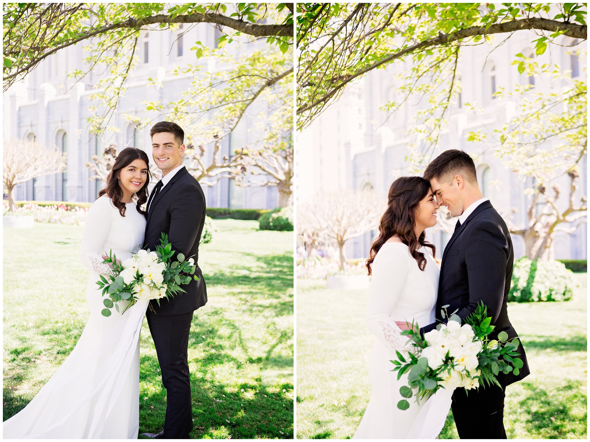 Bride and Groom at the Salt Lake City Temple