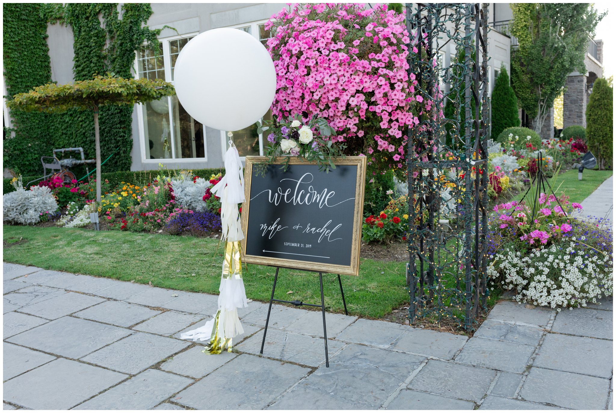 Welcome sign for wedding