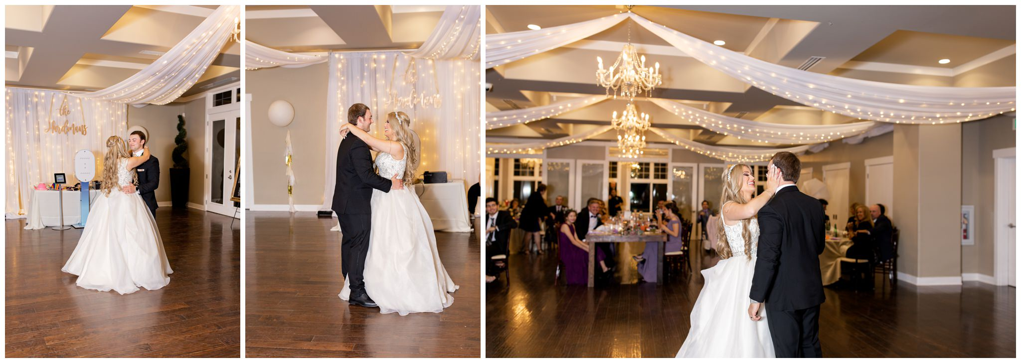 Bride and Groom sharing their first dance as husband and wife.