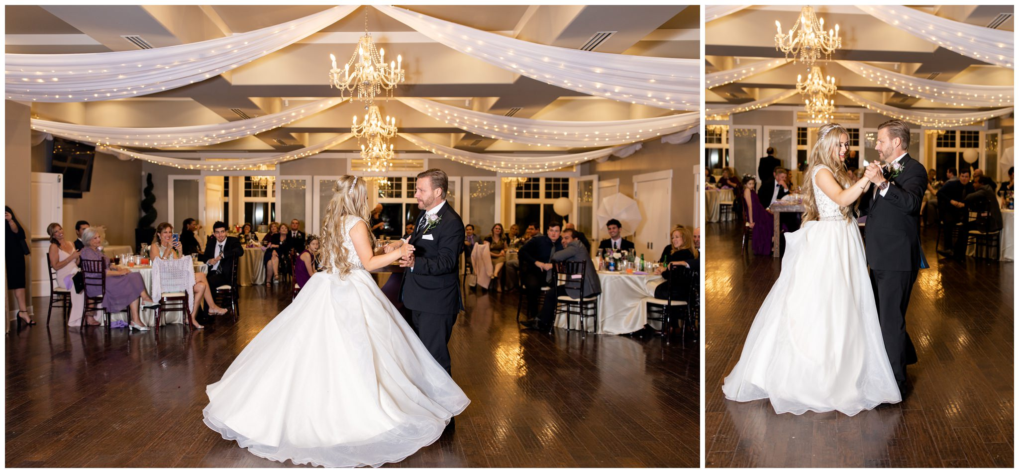 Bride and father dancing at wedding