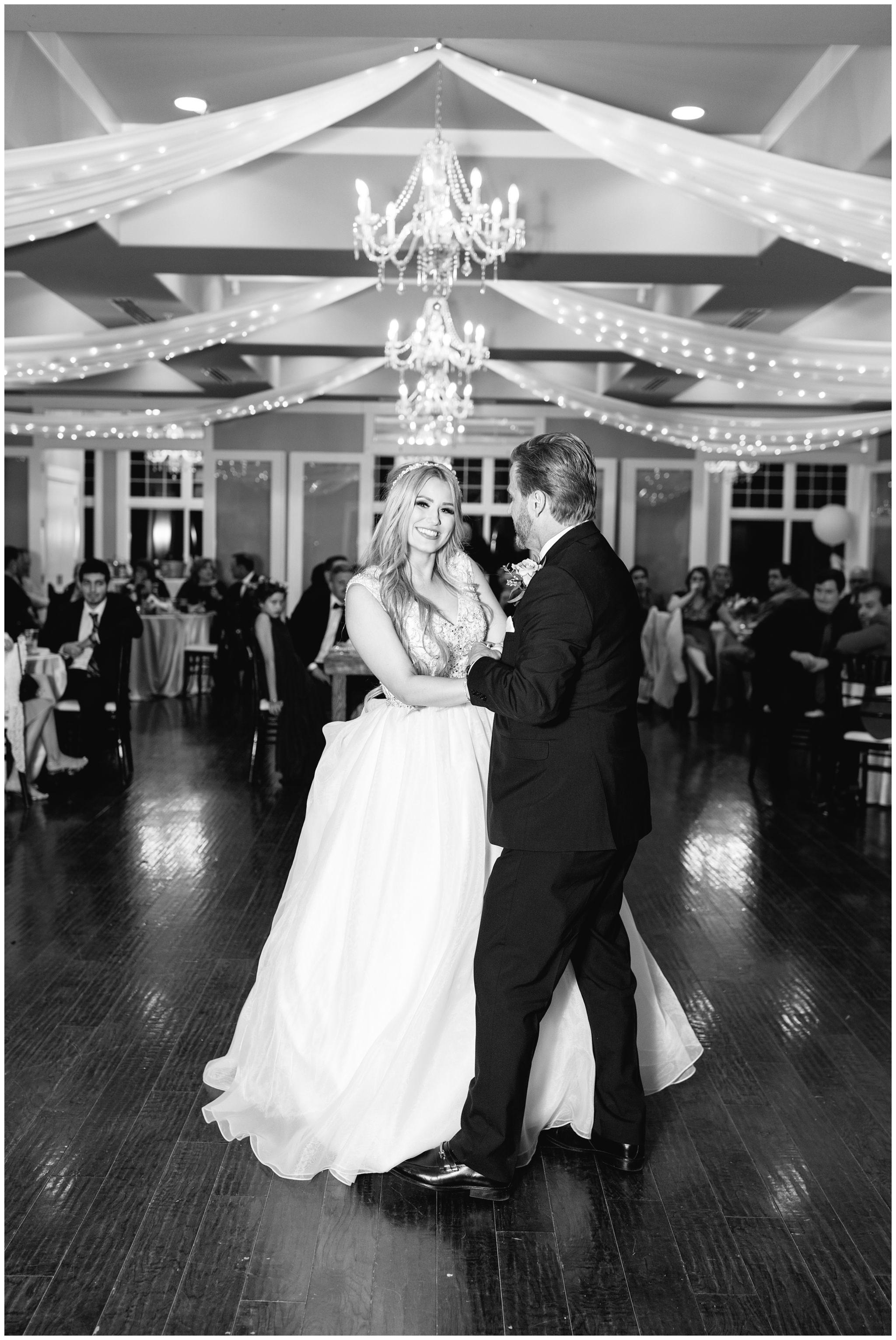 Daddy daughter dance at utah wedding