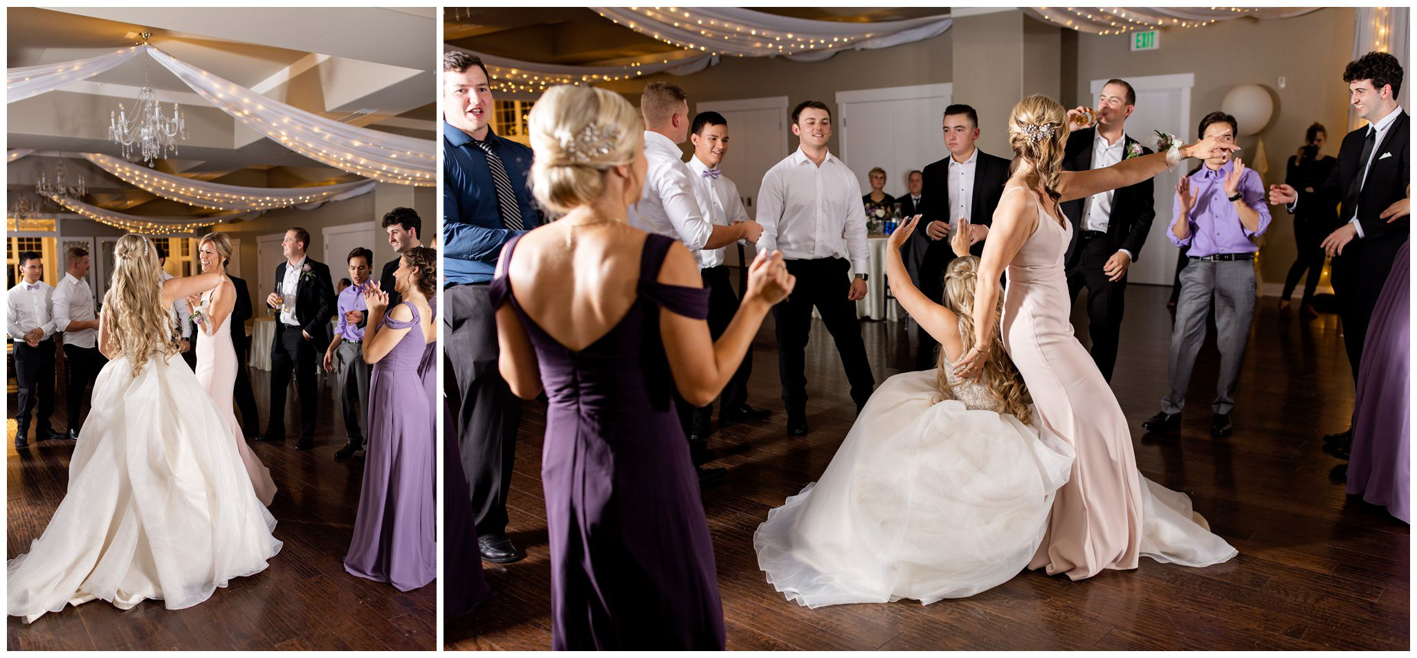 Bride and her mom dancing at wedding