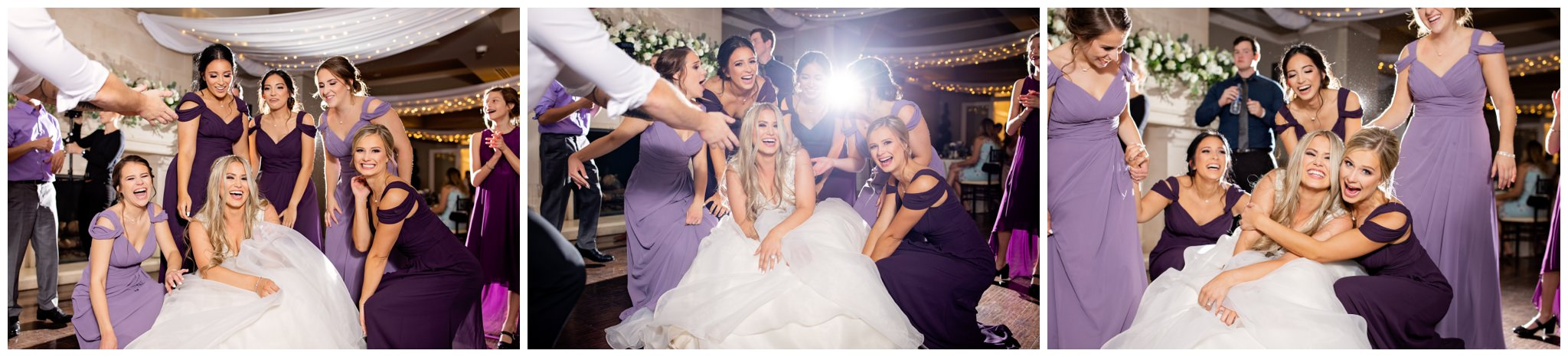 Bridesmaids dancing at Sleepy Ridge weddings