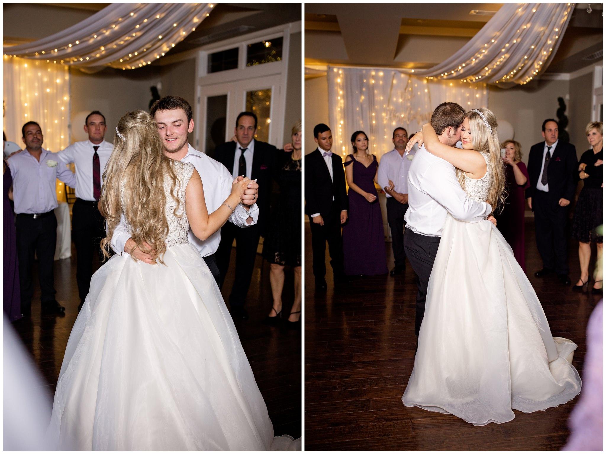 last dance for Bride and groom in Utah
