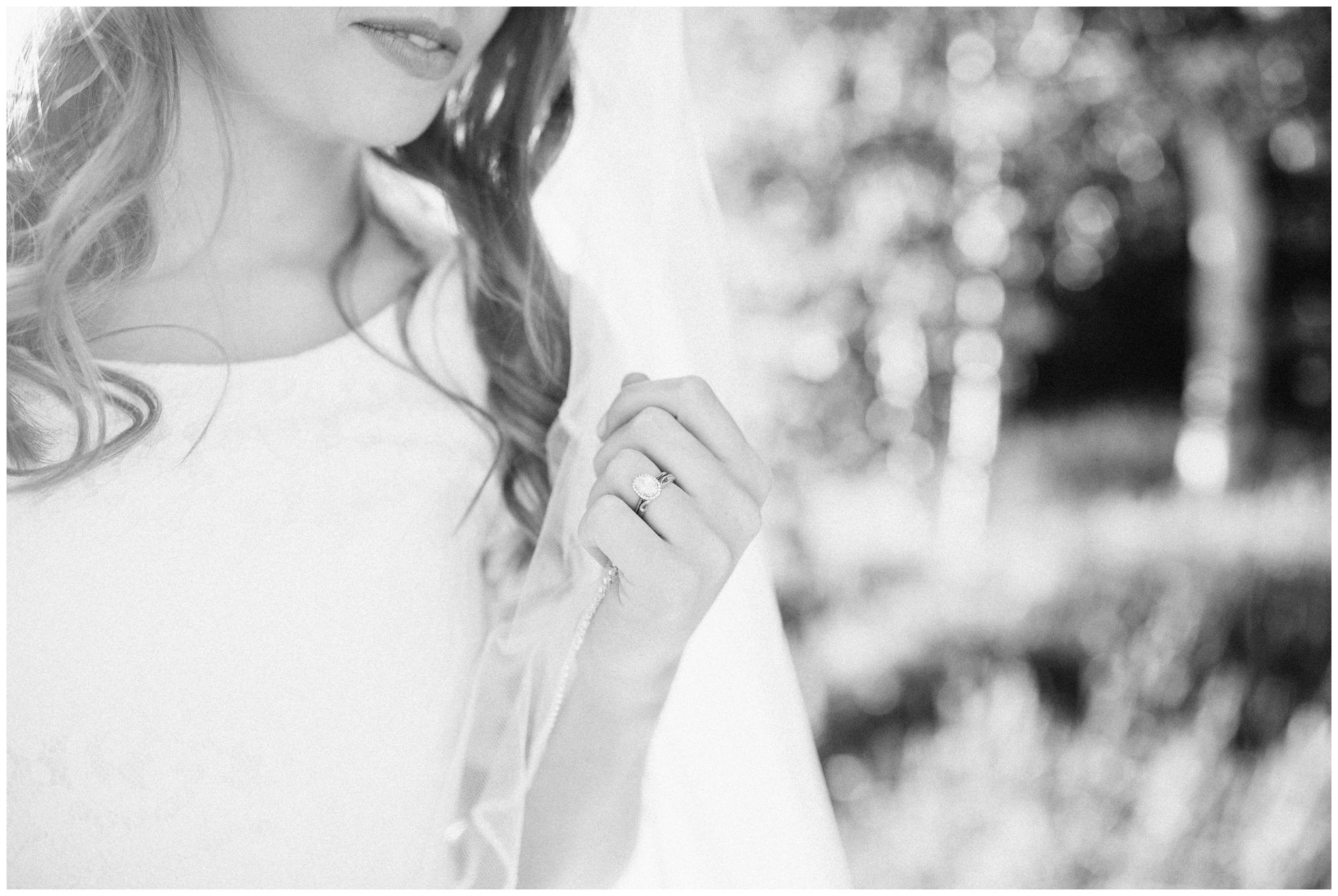 Bride detail shot of her wedding ring