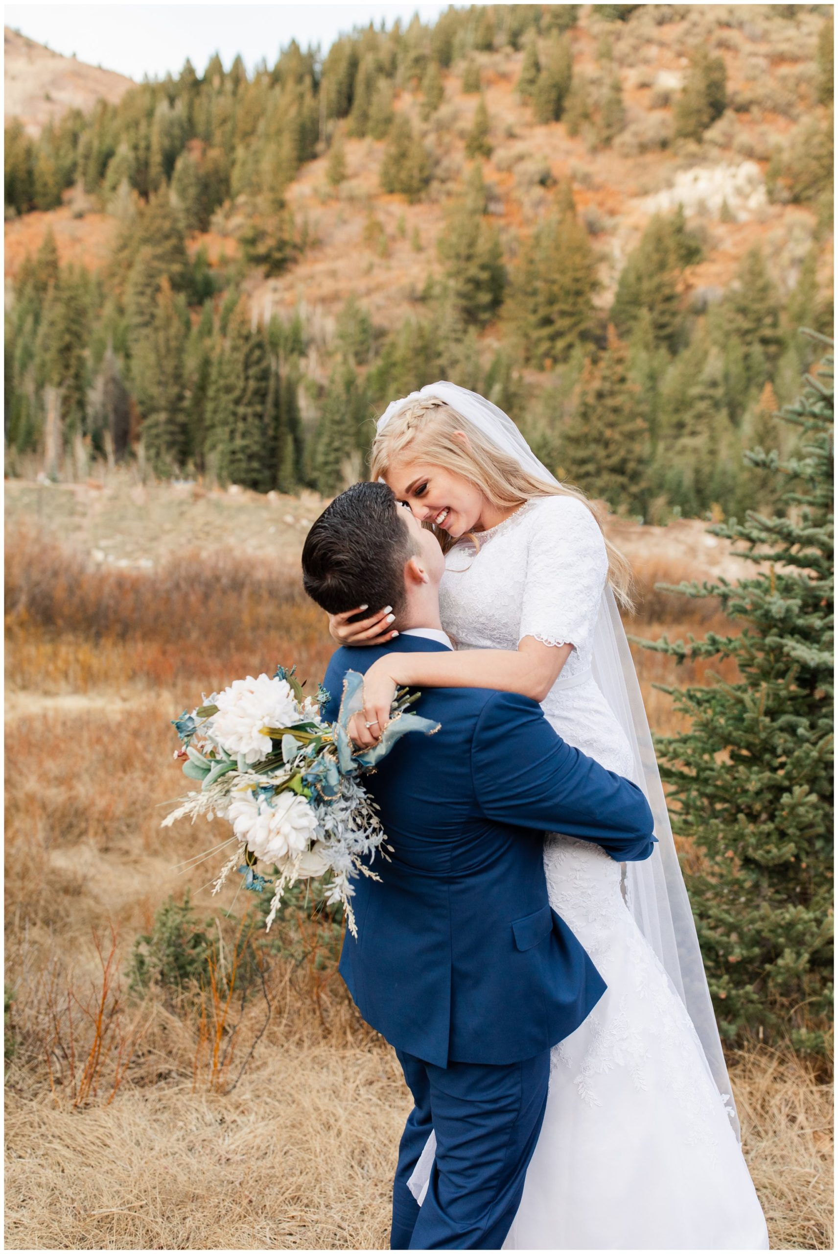 Picking up bride