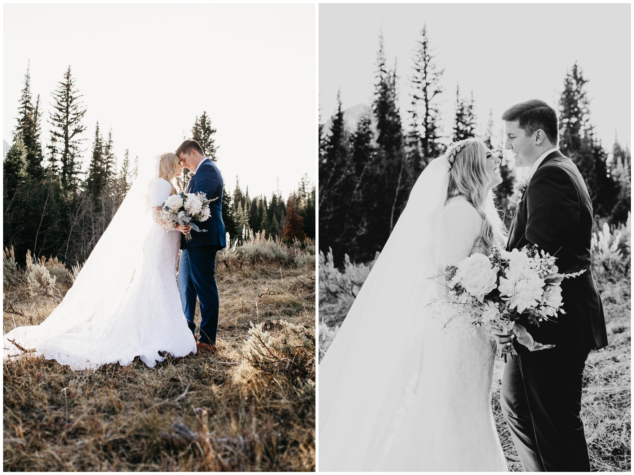 Mountain bridal portraits