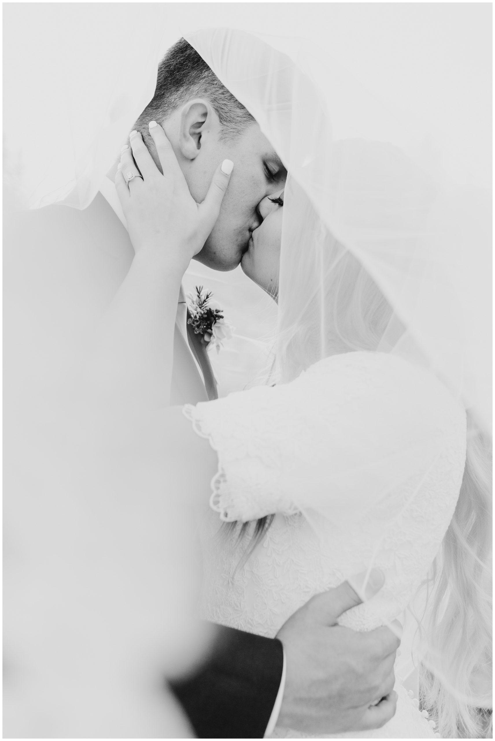 Wedding veil shot