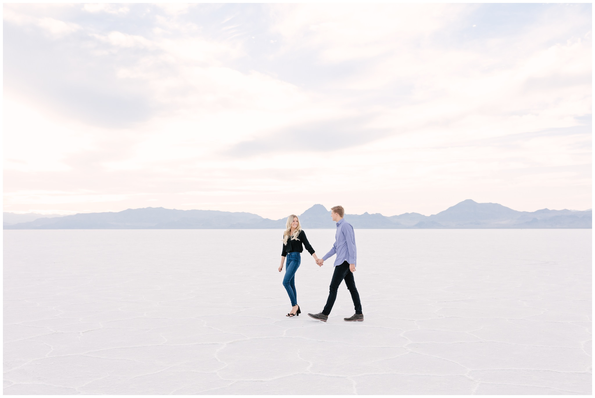 Bonneville Salt Flats Engagement shoot