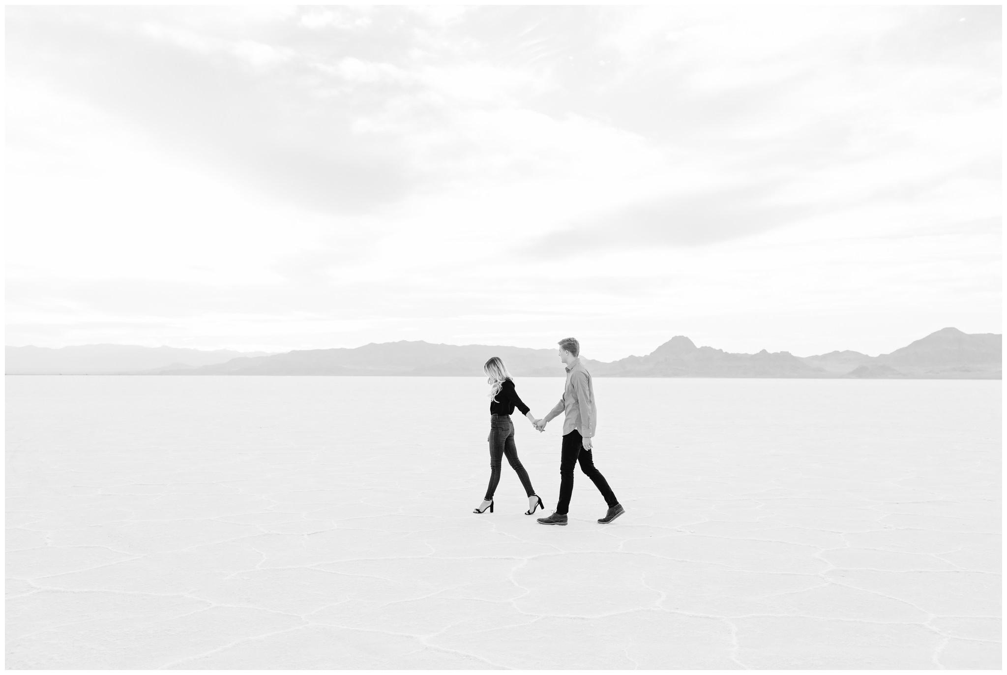 Bonneville Salt Flats Engagement shoot, Clean engagements