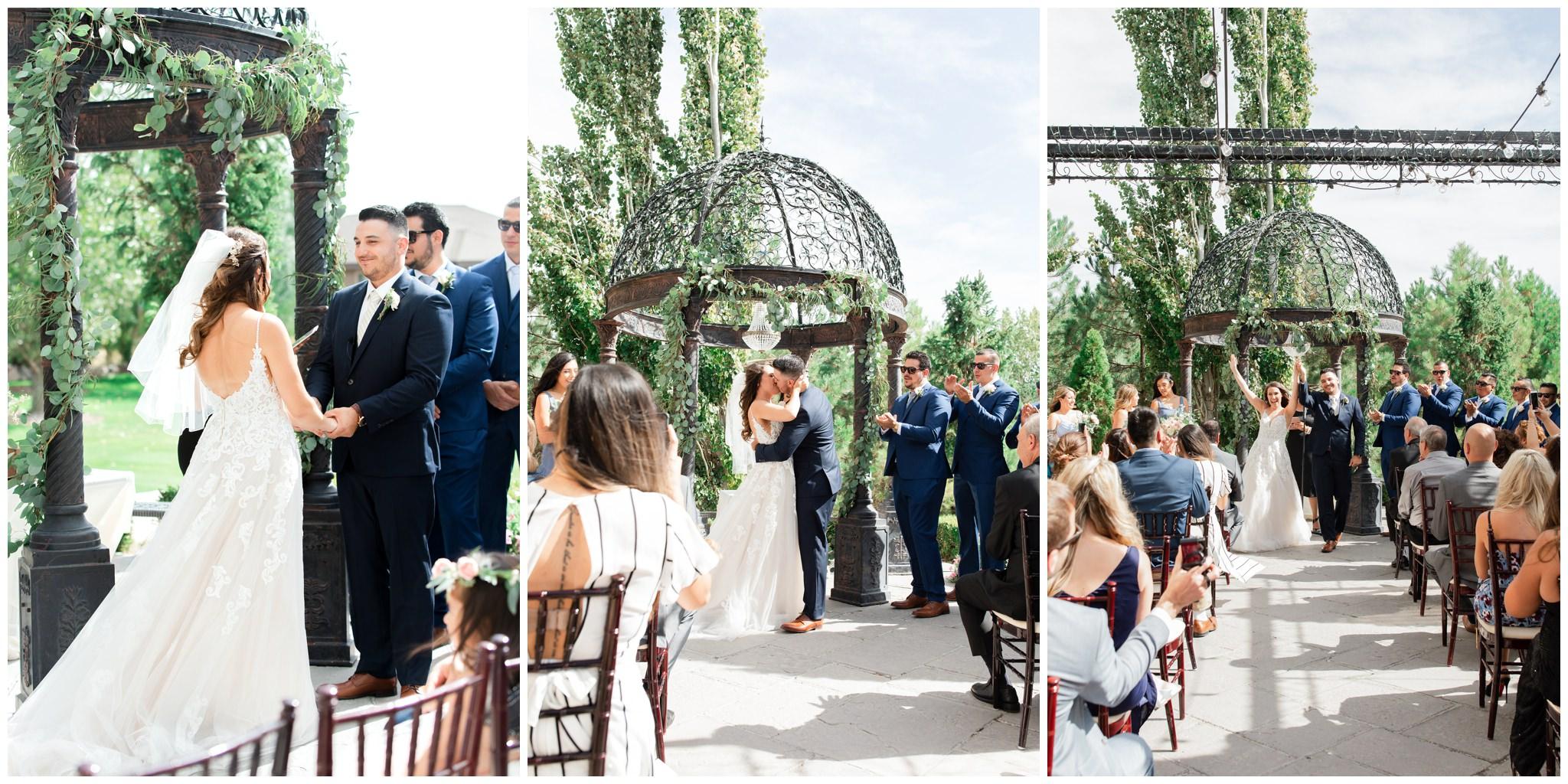 Wedding Ceremony outside of the Garden Room at Sleepy Ridge