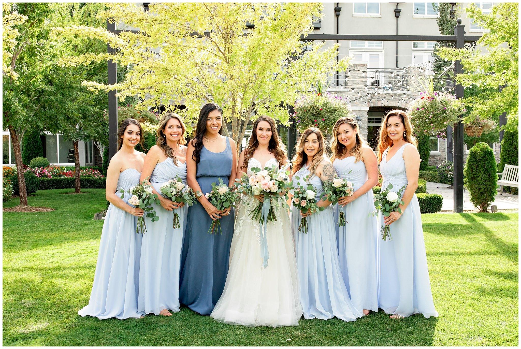 Wedding Party pictures of bridesmaids at Sleepy Ridge