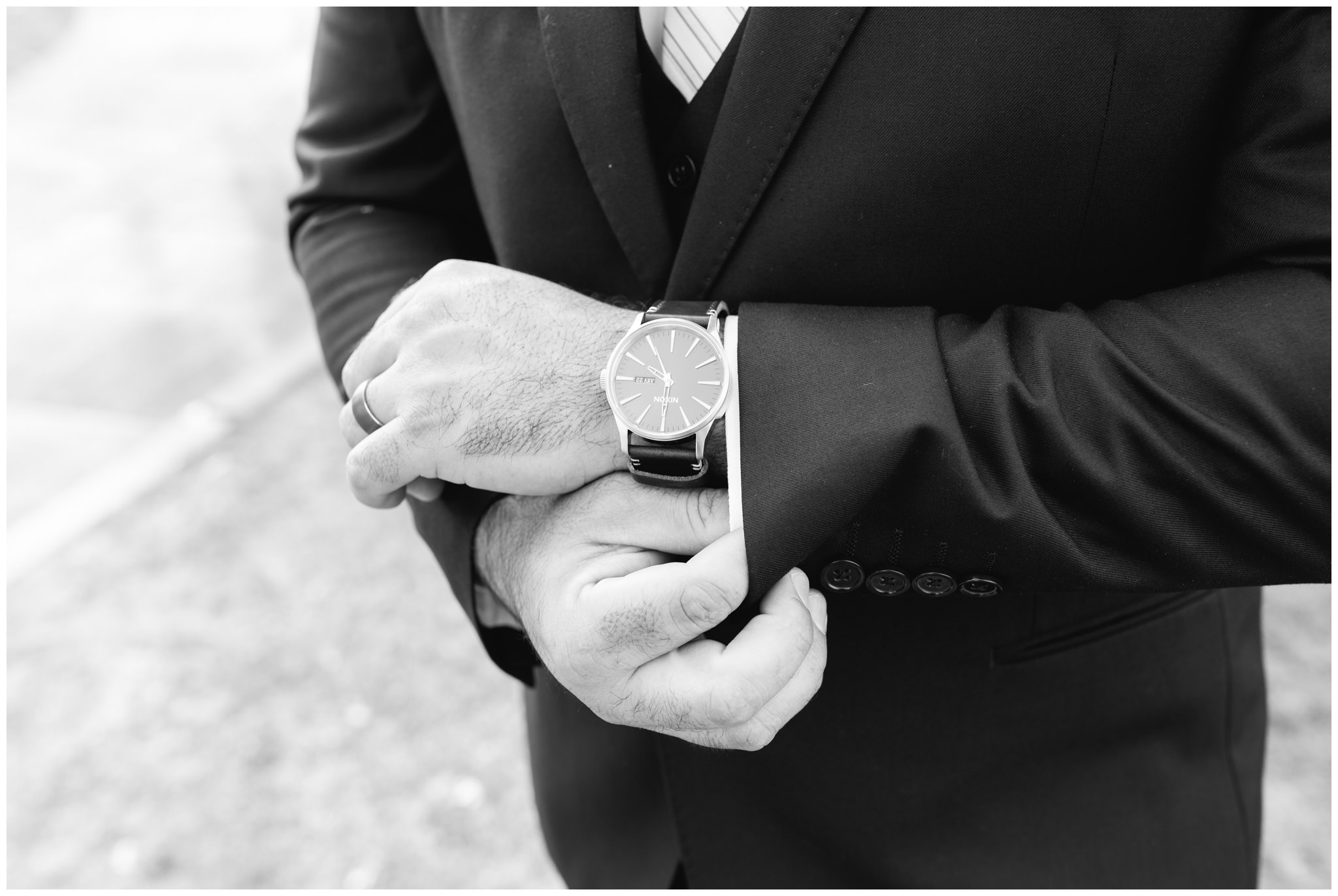 Groom watch for wedding detail shots