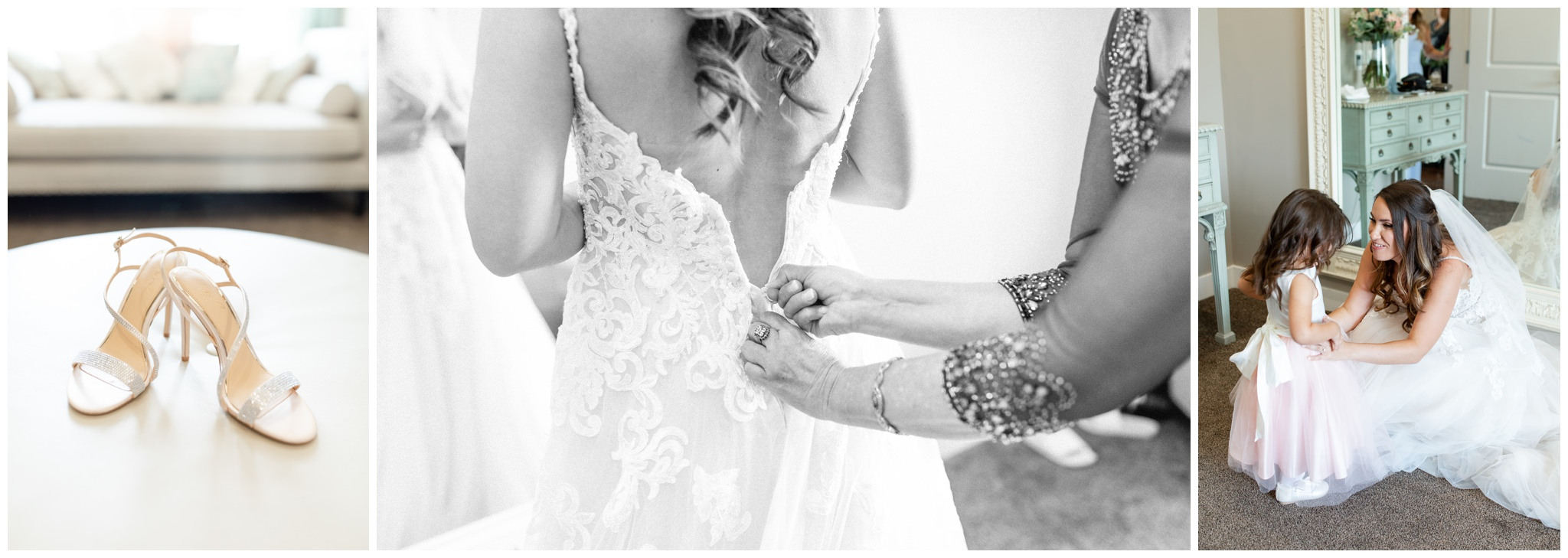 Getting ready images in the Sunset Bridal Room at Sleepy Ridge wedding Venue in Orem, Utah