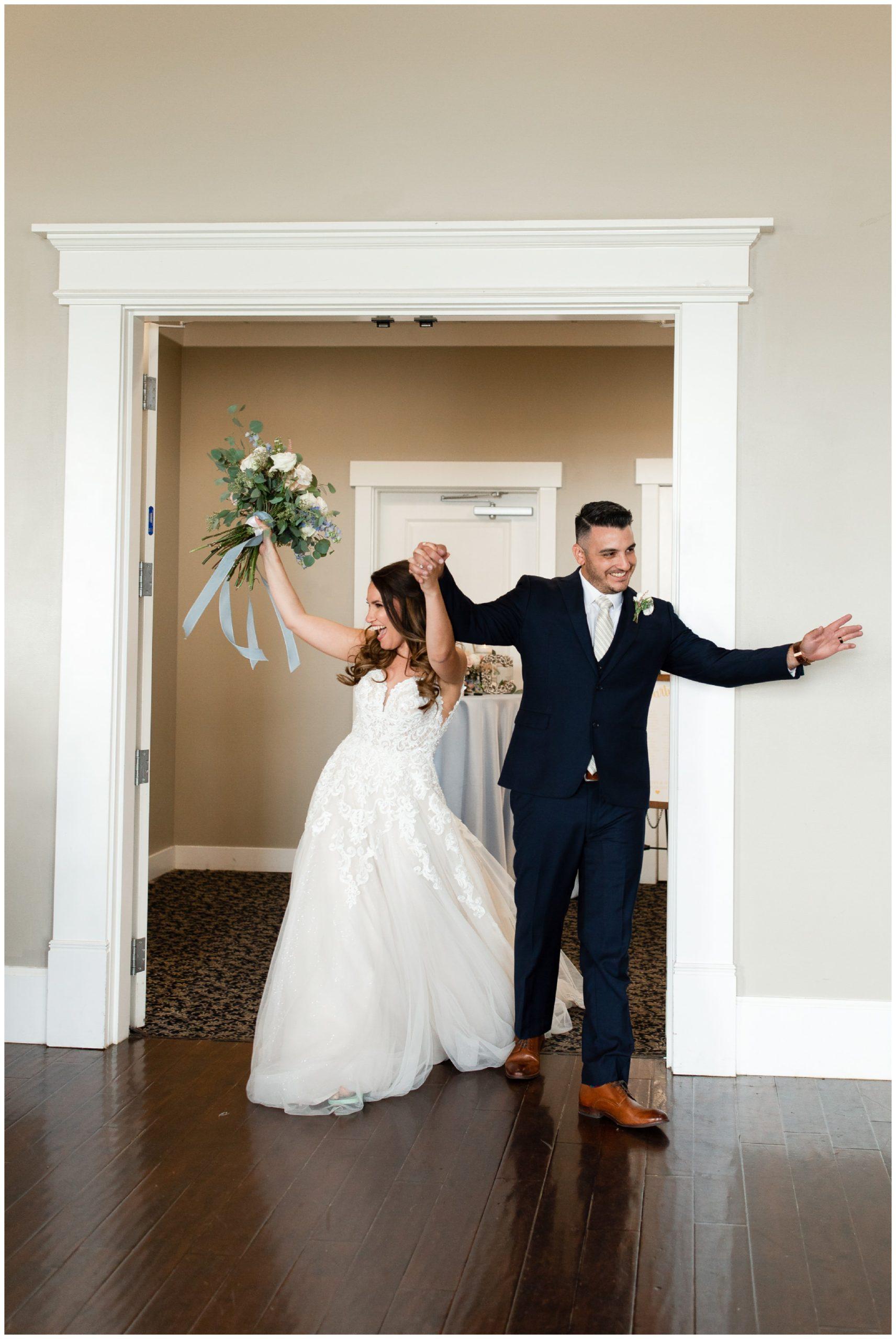 Bride and Groom wedding at Sleepy Ridge Wedding Venue
