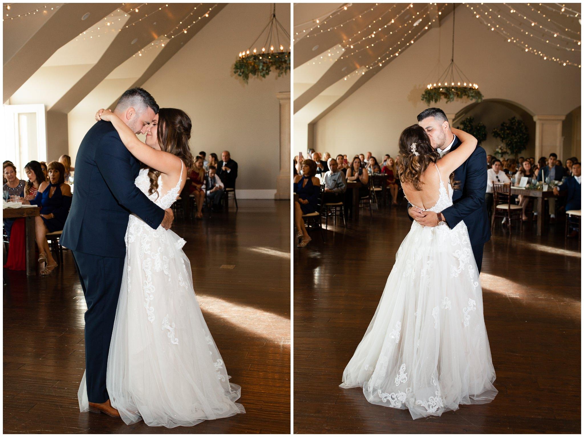 Bride and Groom dancing at their wedding in Utah