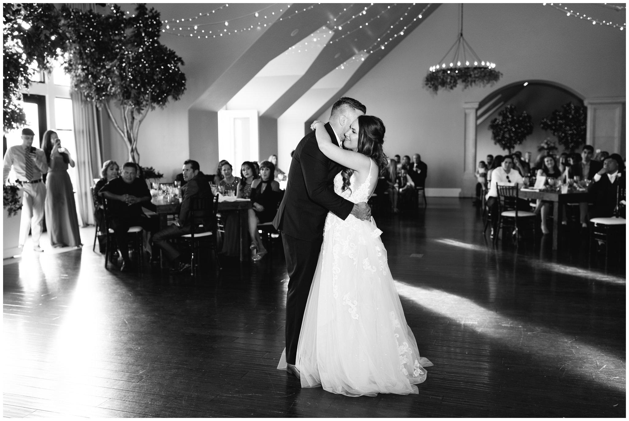 Bride and Groom dancing at Sleepy Ridge