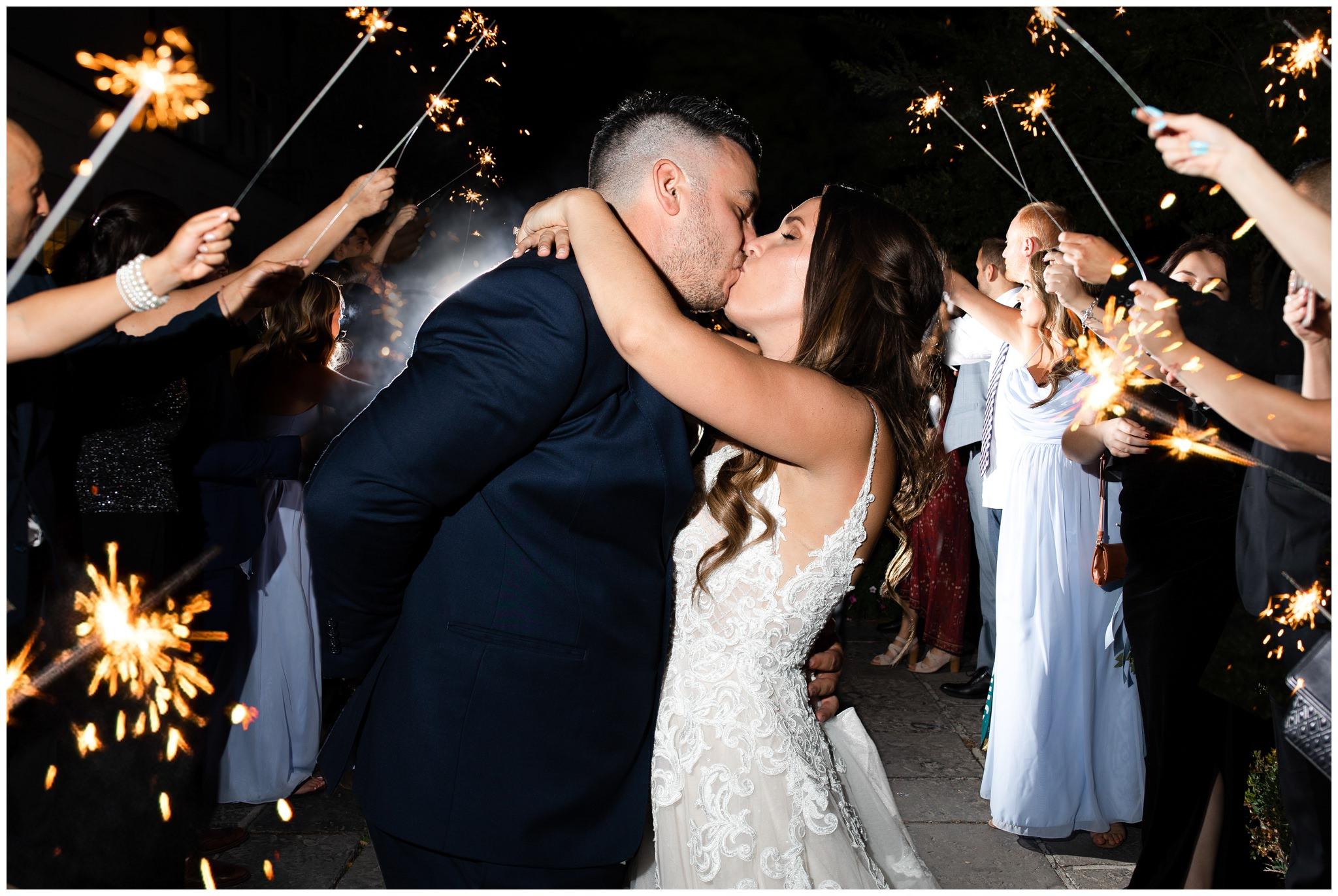 Sparkler exit at Sleepy Ridge Wedding Venue in Orem Utah