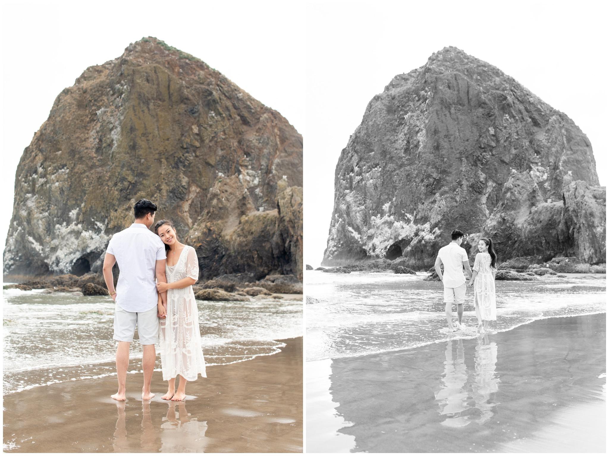 Oregon Coast beach engagements