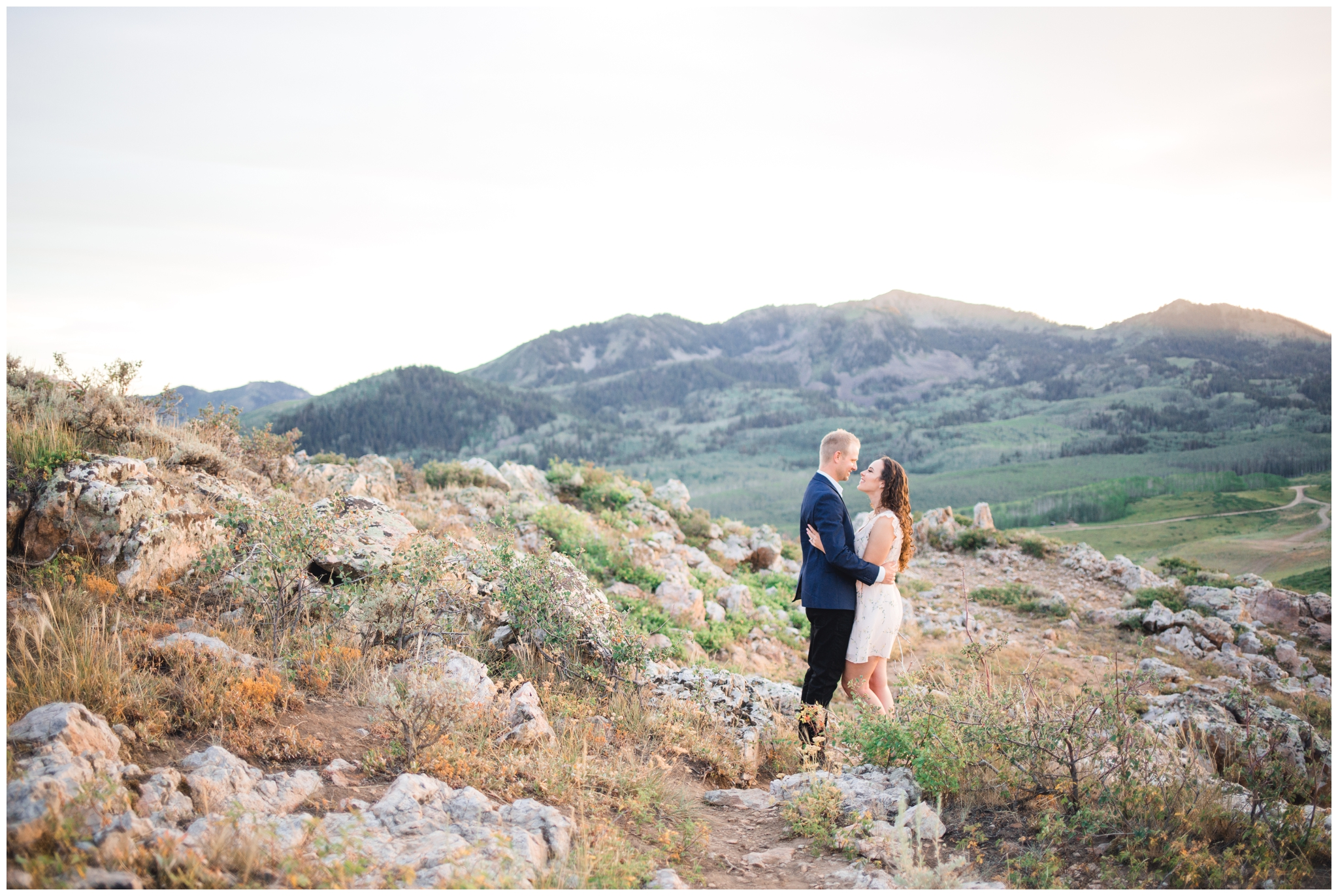 Park City, Utah Sunset Engagement Pictures