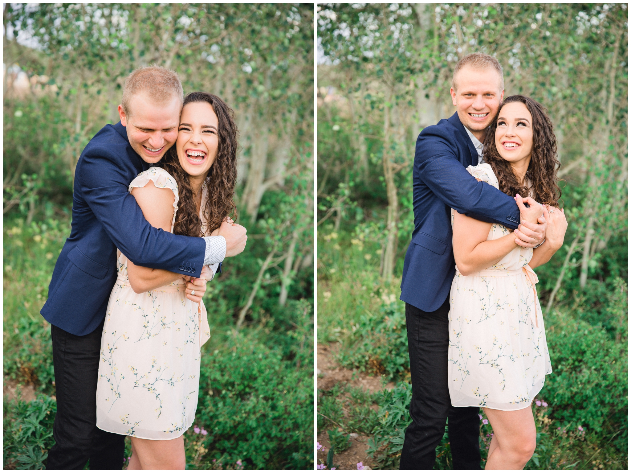 Aspen Tree's in Park City for an Engagement session