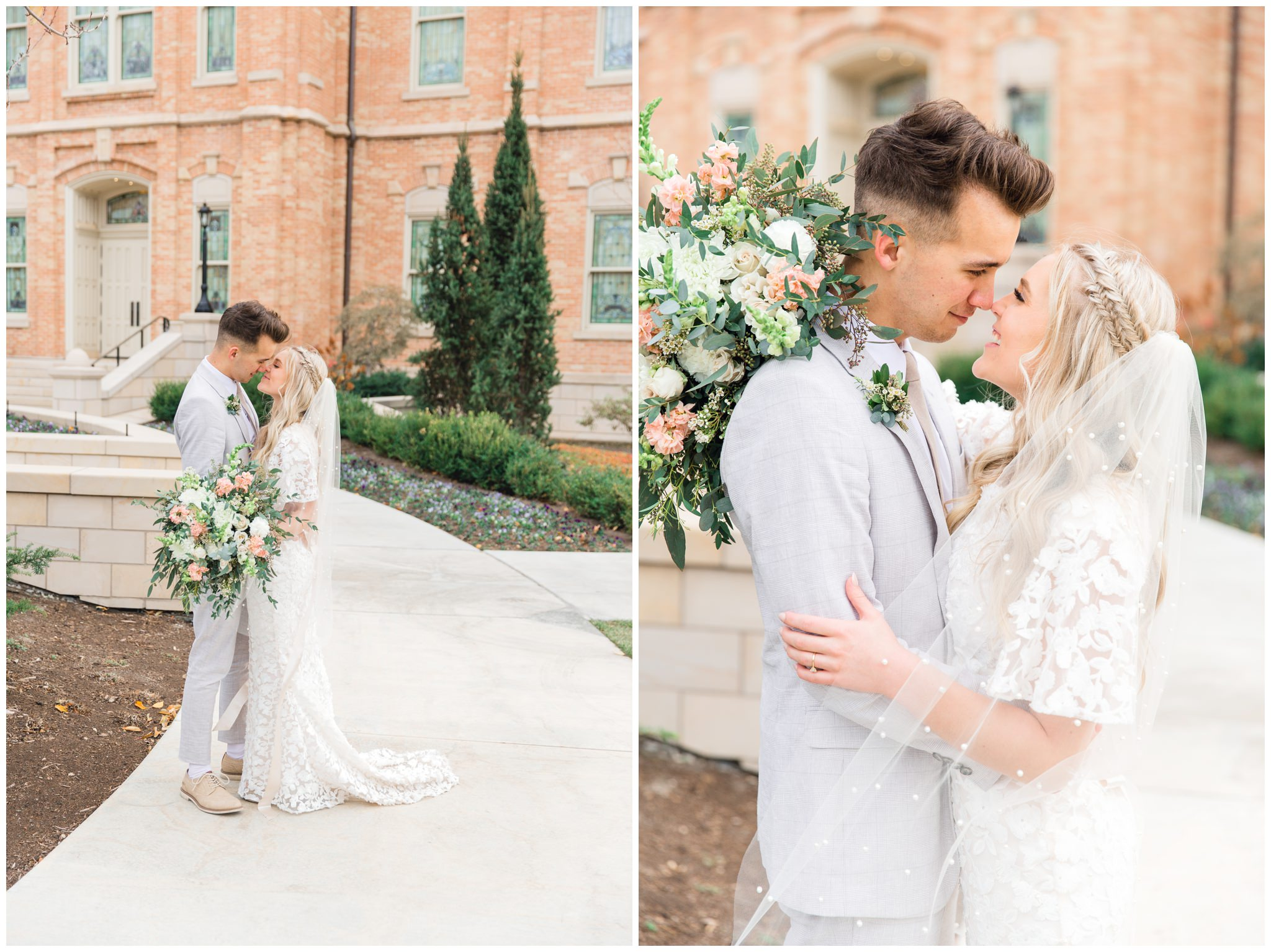 Bride and Groom pictures at Provo City Center Temple