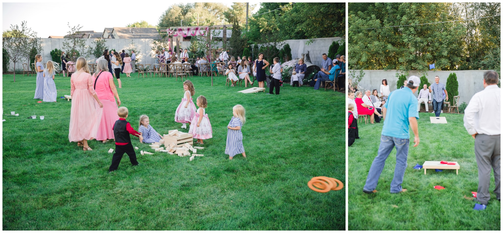 Outside yard games for Summer wedding activities for guests.