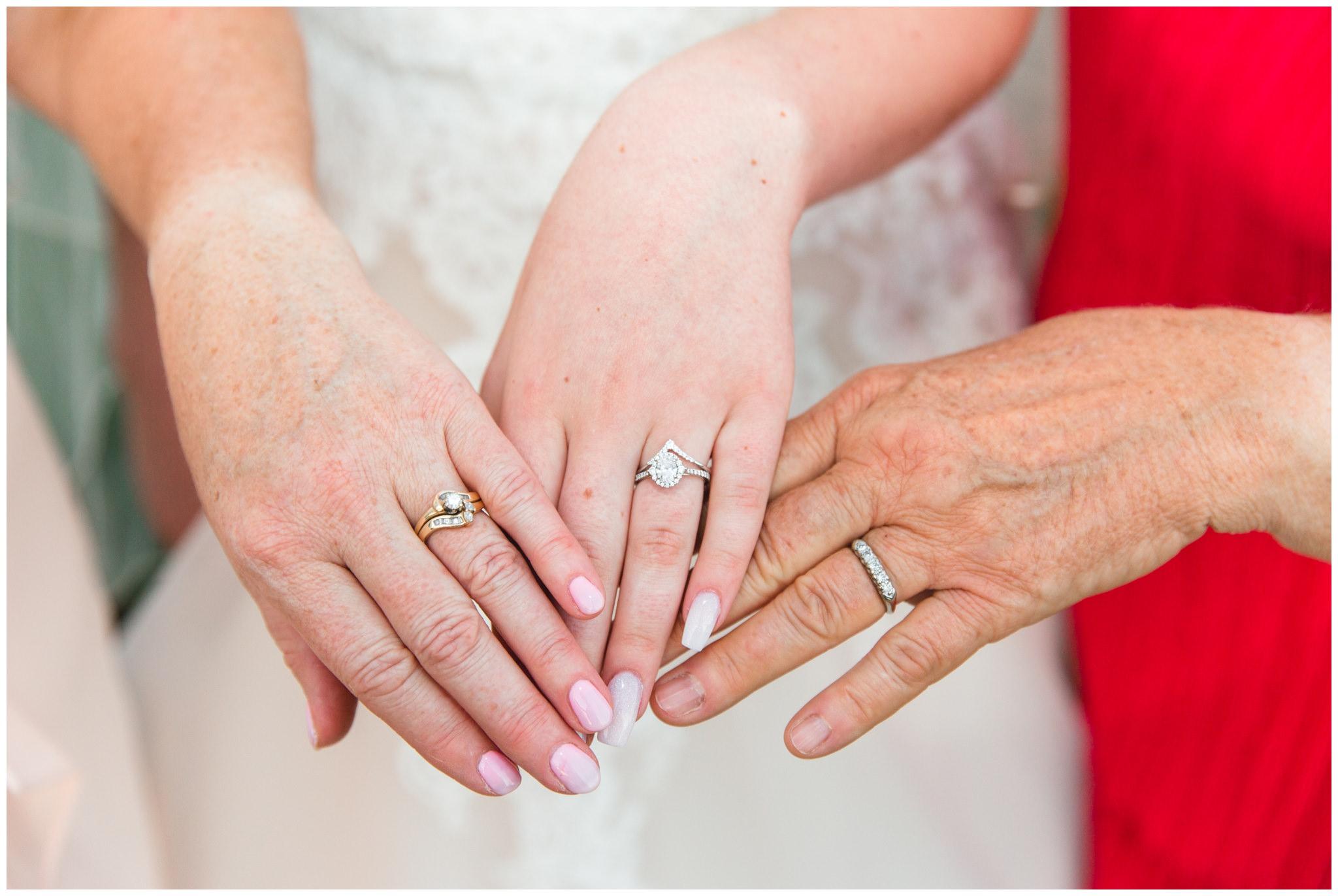 3 generation picture taken at wedding in Utah