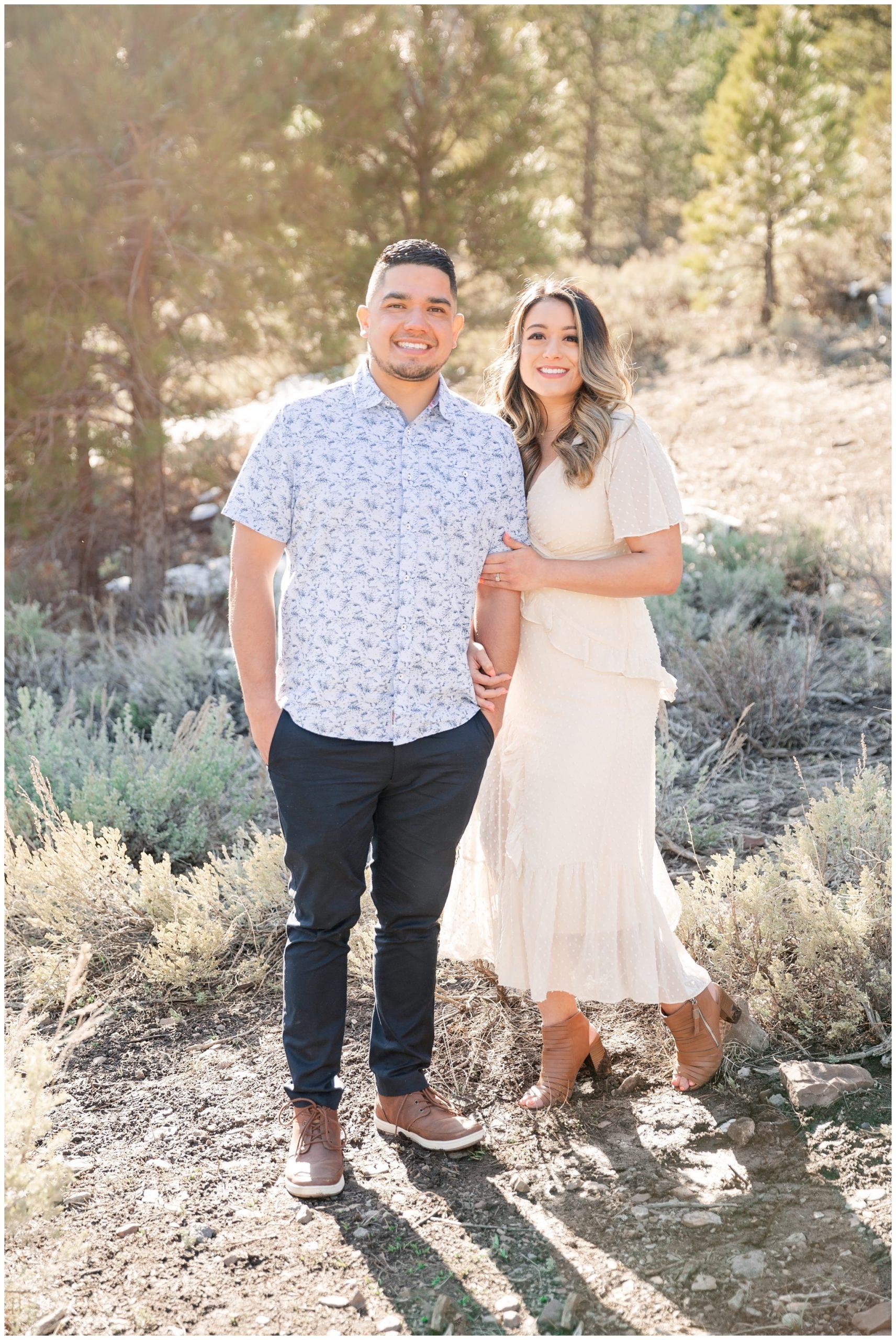 Spring Engagement session at tibble fork reservoir in Utah